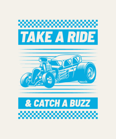 T-Shirt Design Template for Car Enthusiasts 4102-el1