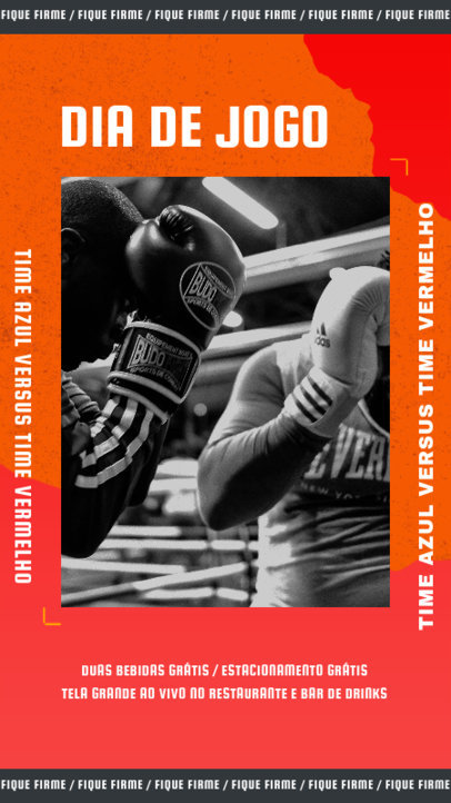 Instagram Story Generator With a Boxing Theme 3785h