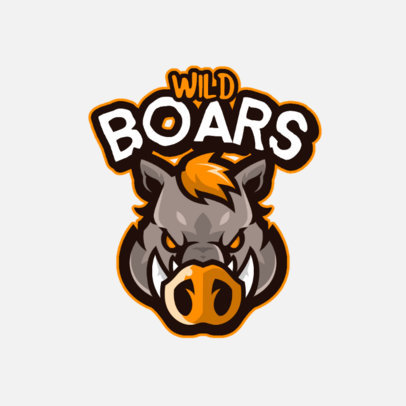 Logo Maker for a Gaming Streamer Featuring a Wild Boar 4110d-el1