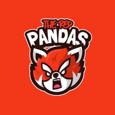 Gaming Logo Generator Featuring an Aggressive Panda 4110f-el1