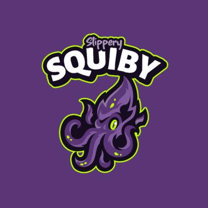 Cartoonish Logo Creator Featuring a Squid 4114e-el1