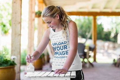 Tank Top Mockup of a Girl Painting Some Furniture 42326-r-el2