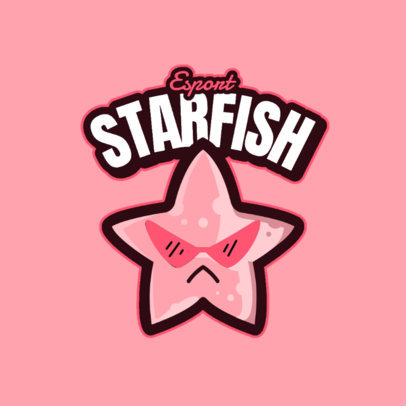 Gaming Logo Maker Featuring a Fun Cartoonish Starfish 4114f-el1