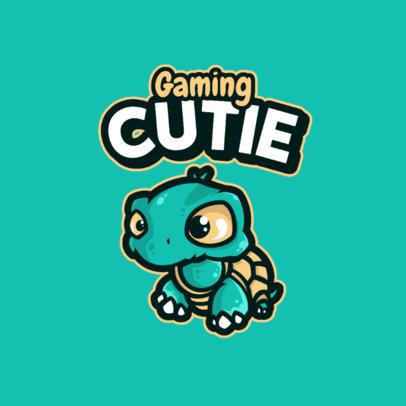 Cute Gaming Logo Maker Featuring a Cartoonish Turtle 4114a-el1