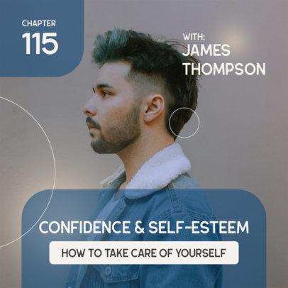 Psychology Podcast Cover Generator for a Self-Esteem Themed Episode 4082a-el1