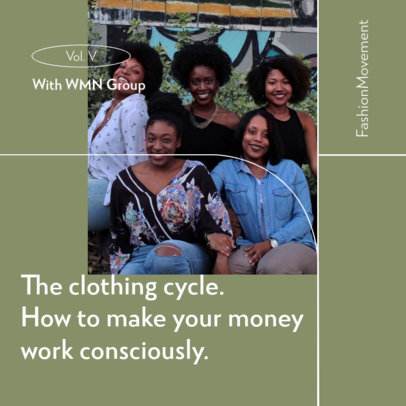 Podcast Cover Maker for a Production Focused on Fashion and Clothing  4078e-el1