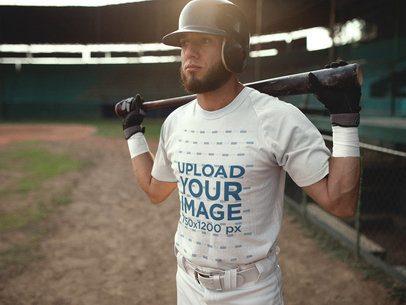 Baseball Uniform Designer - Batter in the Field a16340