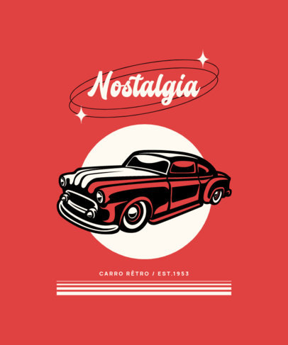Cool T-Shirt Design Maker With a Vintage Car Graphic 4100f-el1