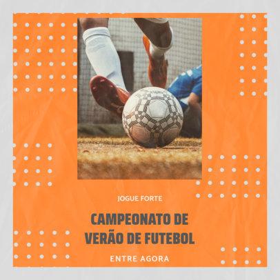 Instagram Post Maker for a Summer Soccer Championship 3783e