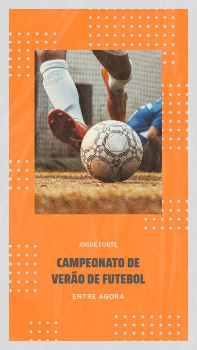 Instagram Story Template for a Summer Camp Soccer Tournament 3783e