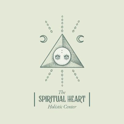 Logo Generator for a Holistic Center Featuring Mystical Graphics 4423e