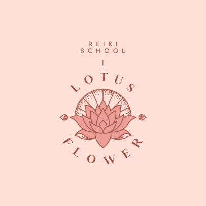 Logo Maker for a Reiki School Featuring a Lotus Flower 4421i