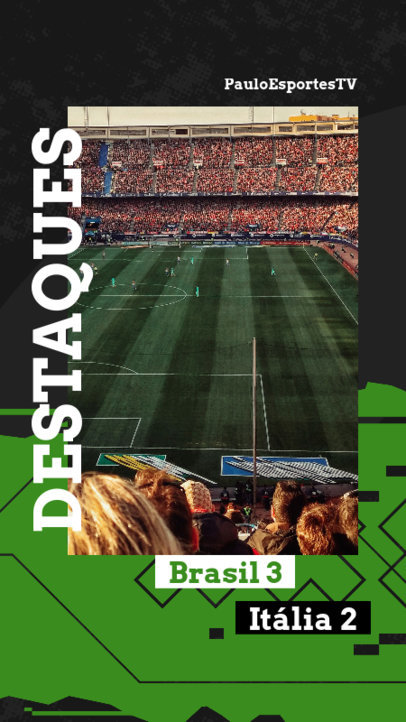 Instagram Story Creator for a Sports Match Highlights 3786a