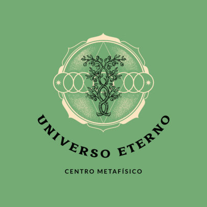 Logo Maker Featuring Metaphysical Graphics and Text in Portuguese 4420d