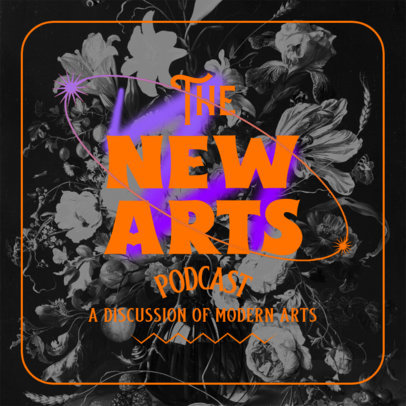 Art Podcast Cover Template Featuring Colored Frames 4450