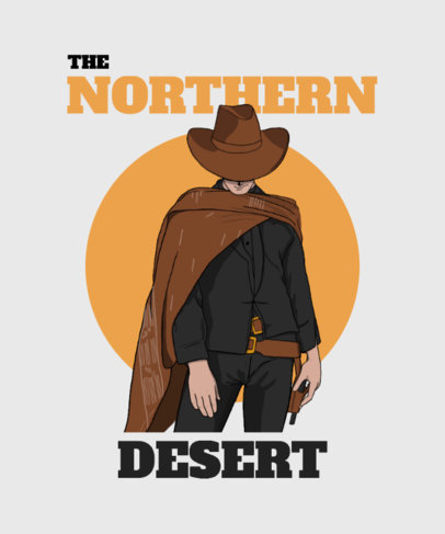 T-Shirt Design Maker Featuring Western Cowboy Graphics 3819