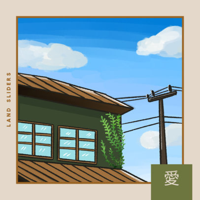 Album Cover Design Template for Lofi Hip Hop Producers 4453d