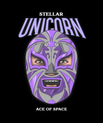T-Shirt Design Maker Featuring an Illustrated Masked Wrestler 4452D