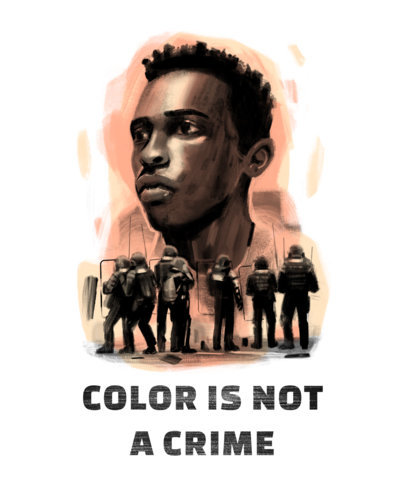 T-Shirt Design Maker Featuring Illustrated Social Justice Portraits 4442