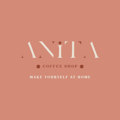 Coffee Shop Logo Maker Featuring a Serif Font 4446c
