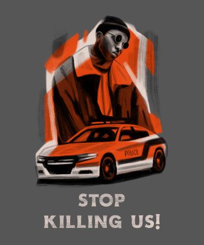 T-Shirt Design Creator with a Black Lives Matter Protest Portrait 4442d