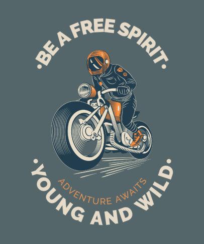 Quote T-Shirt Design Generator Featuring a Biker Illustration 3817e