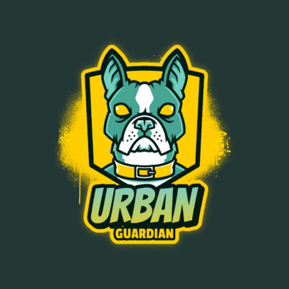 Logo Maker for Gamers Featuring a Guardian Dog Graphic 4230f 4448