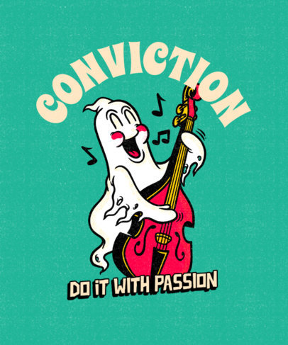 Quote T-Shirt Design Creator Featuring a Wholesome Ghost 4445d