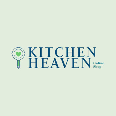 Online Logo Template for Dropshipping Kitchenware Stores 4471