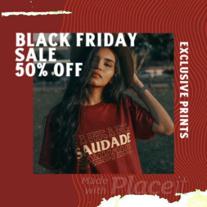 Instagram Post Video Template for a Clothing Brand's Black Friday Sale 2247a 3628