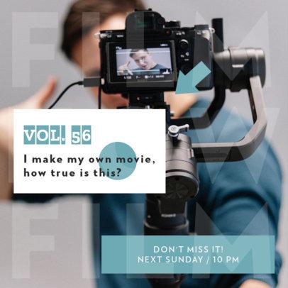 Instagram Post Maker Promoting a Podcast Episode About Film 4121a-el1