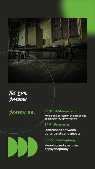 Instagram Story Design Generator for a Horror Podcast Show 4088d-el1