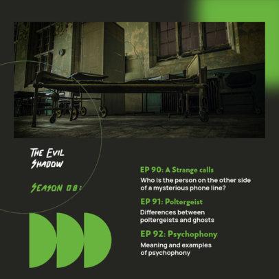 Instagram Post Design Generator for a Horror Podcast Show 4119d-el1