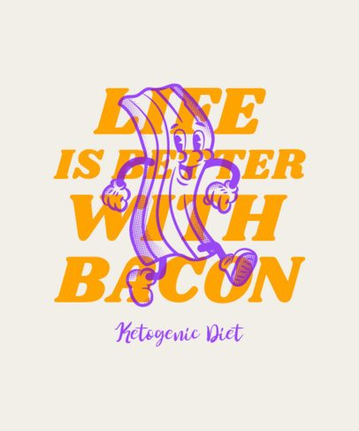 Food T-Shirt Design Creator With a Ketogenic Diet Quote 3829e