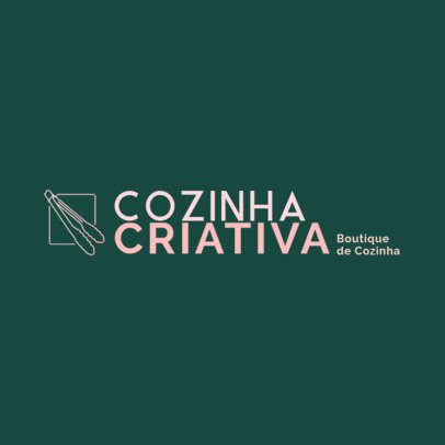 Logo Maker for Dropshippers With a Kitchenware Theme and Portuguese Text 4470e