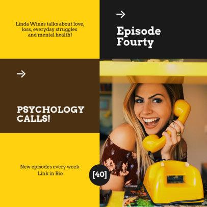Instagram Post Maker to Promote a Psychology-Themed Podcast 4117a-el1