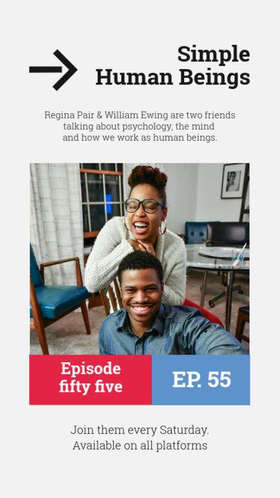 Instagram Story Design Generator to Promote a Psychology Podcast 4086e-el1