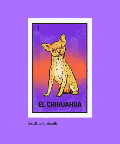 T-Shirt Design Generator Featuring an Illustrated Cart With a Chihuahua Dog Clipart 4466e