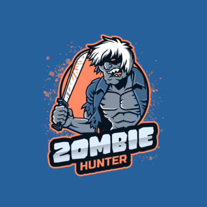 Horror Gaming Logo Maker With a Character Inspired by Resident Evil 4464g