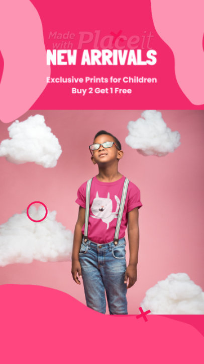 Instagram Story Video Generator for a Kids' Clothing Brand 25531a 3636-el1