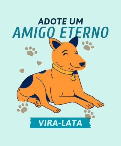 T-Shirt Design Creator Featuring a Vira-Lata Caramelo Dog 3840d