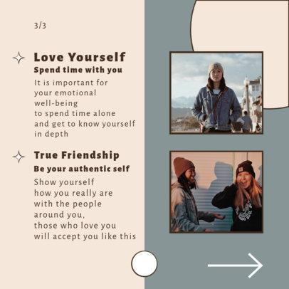 Instagram Post Design Generator for a Mental Health-Themed Carousel 4158-el1