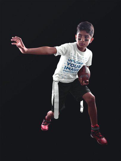 Football Jersey Generator - Little Kid Grabbing Football a16487