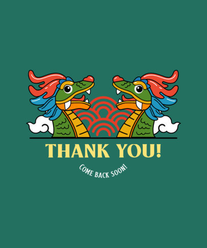 Dragon-Themed T-Shirt Design Creator with a Thankful Message 3677b