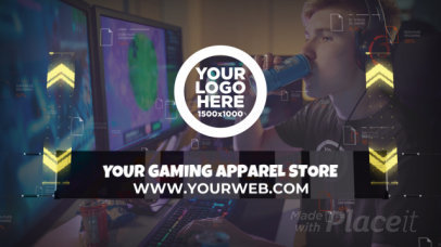 Intro Video Maker Featuring a Gaming Theme For an Apparel Store 2788a-3631-el1