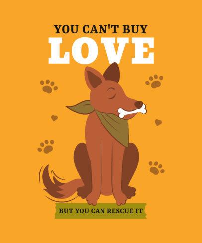 T-Shirt Design Template Featuring an Illustration of a Vira-Lata Caramelo Dog 3840g