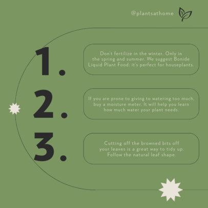 Instagram Post Template Featuring Indoor Gardening Advice 4142a-el1