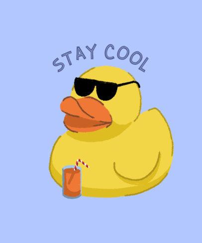 T-Shirt Design Creator Featuring a Cool Rubber Duck Illustration 3845g