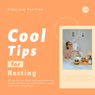 Instagram Post Design Generator for a Carousel Featuring Relaxation Tips 4140e-el1