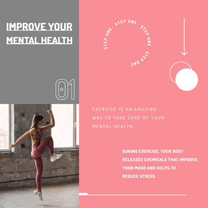 Instagram Post Generator with a Quote About Fitness and Mental Health 4149c-el1